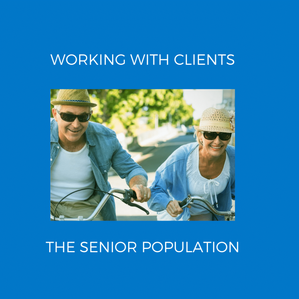 Photo WORKING WITH CLIENTS SENIOR POPULATION