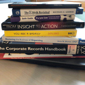 photo stack of business books